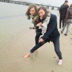 trempage de pieds dans la mer Baltique !